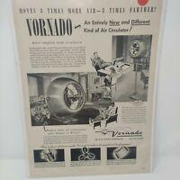 Vintage 1948 Vornado Fan Print Ad Ephemera Wall Art Decor