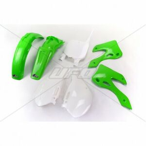 UFO Motocross 5 Piece Plastic Kit Kawasaki KX 125 250 1999 - 2002 OEM Colour