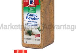 McCormick California Style Garlic Powder With Parsley Coarse Grind Blend, 24 ...