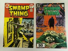 SWAMP THING #7 & #36 (DEC 1973) DC. TWO ISSUE LOT. BATMAN APPEARANCE