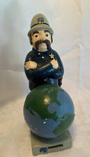 Vintage PINKERTON SECURITY SERVICES Chalkware Plaster Statue Figurine 11""