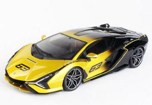 Bburago 1:18 Lamborghini Sian FKP 37 Hybrid Diecast MODEL Racing Car Yellow NIB