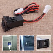 3.1A 5V Dual USB Port Blue Light Charger Fit For Honda Smartphone Mobile Phone