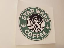 #283 Star Wars Coffee Prinzessin Leia 9,5 AUFKLEBER AUTOCOLLANT STICKER ADHESIVE