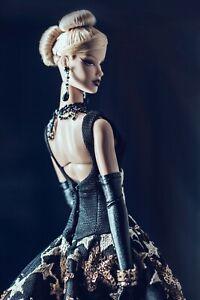 OOAK gown black w/golden stars — Graceful Reign Vanessa