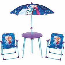 Eiskönigin Elsa Sitzgruppe Tisch Stühle Kindertisch Disney Frozen Gartenmöbel