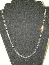 Yellow Gold Filled Unisex Figaro Chain Necklace 24""