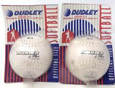 Vtg Dudley Thunder C-Plex Official Regulation Softball Wc-12 New Unused Lot Of 2