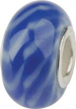 Charlot BORGEN cristal bola con silberkern corazones GPS 13 Azul Murano Bead