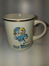 Vintage North Carolina Tar Heels Coffee Cup Gold Rim with Running Ram in Uniform