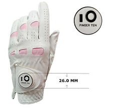 Cabretta Leather Golf Gloves Womens Ladies Ball Marker Grip All Weather Soft