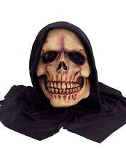 NEW Forum Novelties Hooded Skull Skeleton Reaper Adult PVC Face Mask Costume