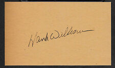 Hank Williams Sr. Autograph Reprint On Old 3x5 Card