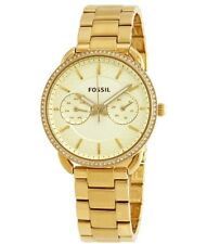 Fossil ES4263 Women's Tailor Champagne Dial Gold-tone Stainless Steel Watch