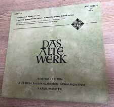 25cm Bach Concerto Grosso D-dur H-moll Gustav Leonhardt J. Hekster Heuwekemeyer