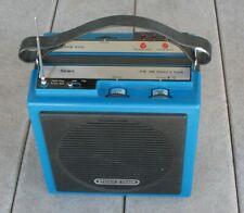 Vintage blue portable Sears 8-track Am/Fm model 61-21051