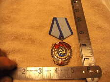 Soviet Russian USSR Order Medal of the Red Banner of Labor #475314 solid Silver