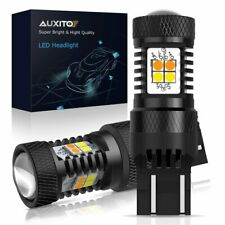 AUXITO Switchback 7443 7440 LED Turn Signal Dual Color Light Bulbs White Amber P