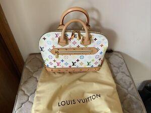 LOUIS VUITTON ALMA WHITE MULTI-COLOR MONOGRAM FL0043 HAND BAG