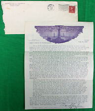 Original 1928 Purple Sage Oil Corporation Stockholder Letter Letterhead