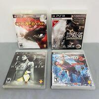PS3 4 Game Lot Bundle-Heavy Rain,Uncharted 2, God Of War 3, Medal Of Honor- CIB