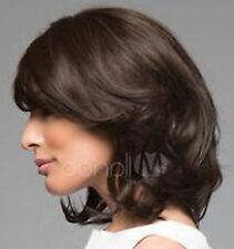 LMSW153 fancy short brown curly fashion hair wigs for health women hair wig