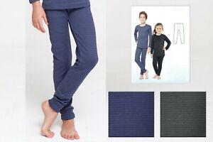 116-122 Thermo Unterwäsche Thermohose Lange Unterhose für Kinder weiß Gr