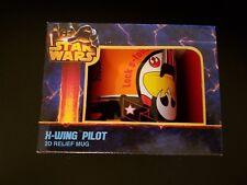 STAR WARS X-WING PILOT 2D RELIEF MUG ZEON STAR152 COFFEE TEA COLLECTIBLE