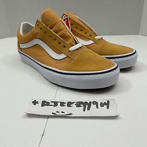 Vans Mens Old Skool Golden Brown True White Suede Canvas Sneakers Men's Size 8