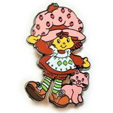 Strawberry Shortcake 80's Cartoon Toy Hat Jacket Tie Tack Lapel Pin