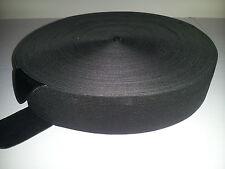 ELASTIC 38 MM BLACK 50mt Roll for Skirts Pants Swimwear Asst sizes