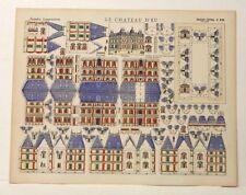 Imagerie D'Epinal No 230 Le Château D'eu, Grandes Constructions toy paper model