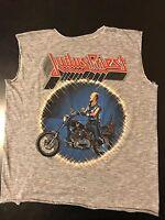 VTG 80s 1984 Judas Priest Defenders Faith Concert Tour T-Shirt Metal Rock Punk