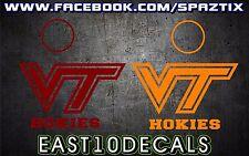 Virginia Tech Hokies Cornhole Decal 6 pc Set - VA TECH Football BLACKSBURG