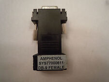 AMP SYS77000611 modular DB-9 to RJ-45 adapter Quantity Cisco Juniper Xyplex MRV