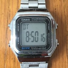 Casio A178W Vintage Retro Silver Digital Steel Water Resist WR Illuminator Watch