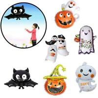 HALLOWEEN PARTY BALLOONS ORANGE BLACK PUMPKIN SCARY DRESS BALLON PARTY HOT D1A3