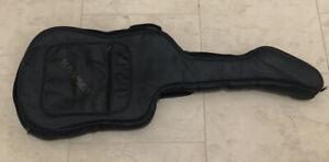 1987 Kramer Electric Guitar Padded Leather Gig Bag Black w/ Shoulder Strap Rare