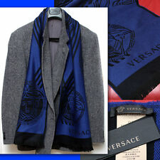 $420 GIANNI VERSACE Men's MEDUSA WOOL SCARF