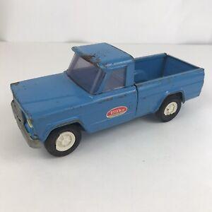 Vintage 1966-69 Tonka Toys Blue Mini Jeep Gladiator Pickup Truck VG