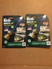 Lot Of 2 Little Big Shot LBS-106 3 Pattern Adjustable Hose Nozzle, Brass