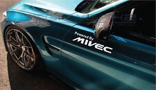"""Powered By Mivec Decal Sticker logo Evolution Lancer Mitsubishi FTO 12"""" Pair"""