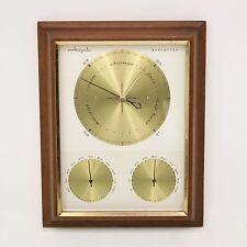 Vtg Mid Century Airguide Weather Station Barometer Thermometer Hygrometer Gauge
