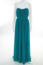 ERIN Erin Fetherston Teal Blue Barrier Reef Gown Size 10 New $395 10105641