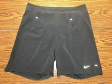 "Nike Dri-Fit Instinct 9"" Lined Running Shorts Size 34 Black/Volt 535378-011"