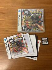 Pokemon: Platinum Versión (Nintendo DS, 2009), cartucho sólo Genuino