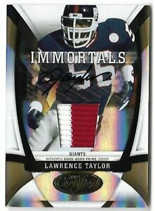 LAWRENCE TAYLOR 2009 PANINI CERTIFIED AUTO AUTOGRAPH GAME PATCH CARD #2/25! READ