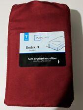 Mainstays Twin size dark red bedskirt Bedding linen NEW