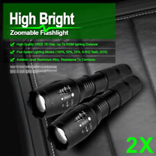 Torch T6 8000LM 2PCS Bright Super Camping Police Flashlight Light Hunt CREE