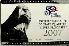 2007-S US Mint State Quarter Silver Proof Set 5 Coins lrrr